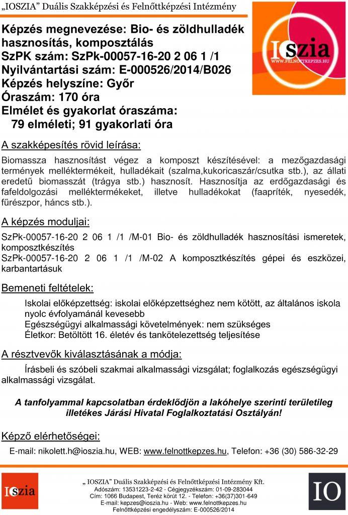 Bio- és zöldhulladék hasznosítás komposztálás - Győr - Felnőttképzés - IOSZIA